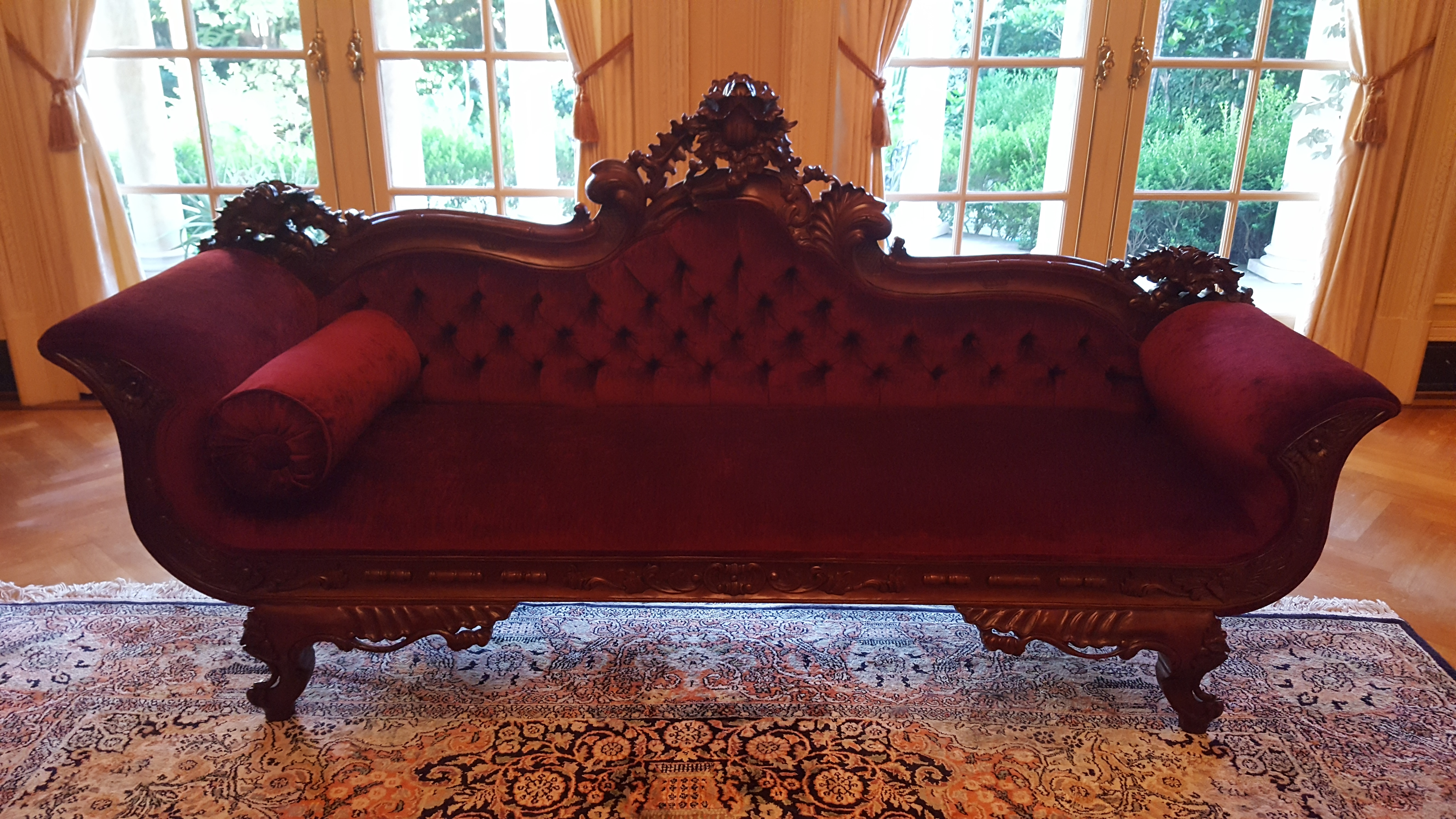 antique sofa upholstery